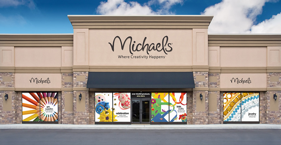 Michaels store window clings annabel nguyen design for Real estate office wall decor